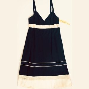 Catherine Malandrino Black & Ivory Cotton Dress